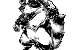 Inktober 2016 Trash Panda
